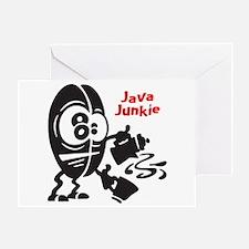 Java Junkie Greeting Card (Single)