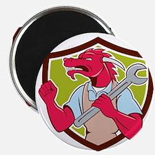 Red Dragon Mechanic Spanner Fist Pump Shield Magne