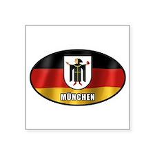 """Unique Germany oval Square Sticker 3"""" x 3"""""""