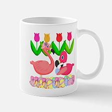 Spring Pink Flamingos Mugs