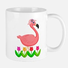 Girl Flamingo and Tulips Mugs