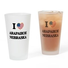 I love Arapahoe Nebraska Drinking Glass