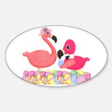Easter Pink Flamingos Decal