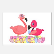 Easter Pink Flamingos Postcards (Package of 8)