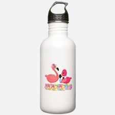 Easter Pink Flamingos Water Bottle