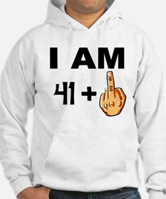 Middle Finger 42nd Birthday Hoodie