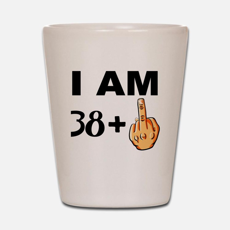 Middle Finger 39th Birthday Shot Glass