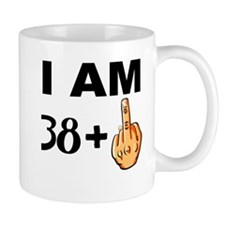 Middle Finger 39th Birthday Mugs