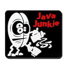 Java Junkie Black Mousepad