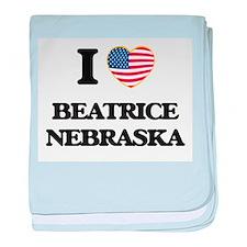 I love Beatrice Nebraska baby blanket