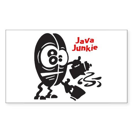 Java Junkie Rectangle Sticker