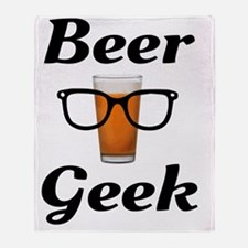 Cute Beer brewers glasses Throw Blanket