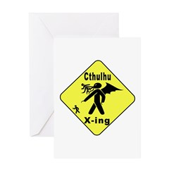 Cthulhu Crossing Greeting Card