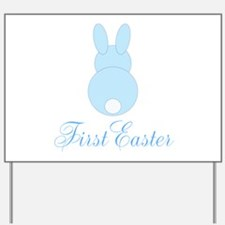 First Easter Blue Bunny Yard Sign