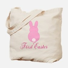 First Easter Pink Bunny Tote Bag
