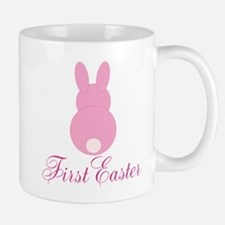 First Easter Pink Bunny Mugs