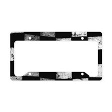 Unique White flag License Plate Holder