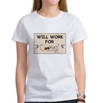 WILL WORK FOR COOKIES Women's T-Shirt