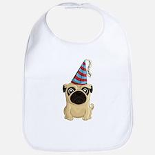 Happy Birthday Pug Bib