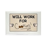 WILL WORK FOR COOKIES Rectangle Magnet (10 pack)