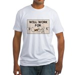 WILL WORK FOR COOKIES Fitted T-Shirt
