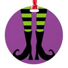 Halloween Witch Feet Ornament