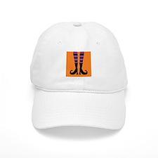 Halloween Witch Feet Baseball Baseball Cap