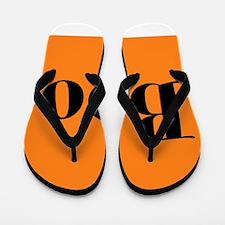 Black and Orange Funny Halloween Boo Flip Flops