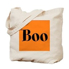 Black and Orange Funny Halloween Boo Tote Bag
