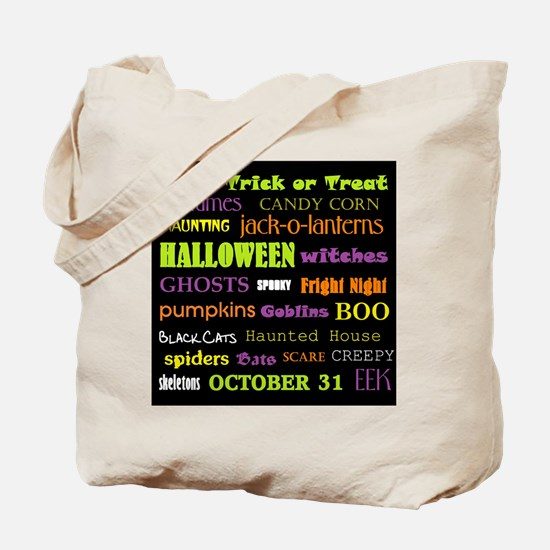 Halloween Subway Art Tote Bag