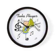 Tuba Player Wall Clock