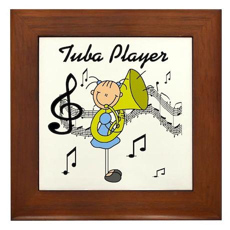 Tuba Player Framed Tile
