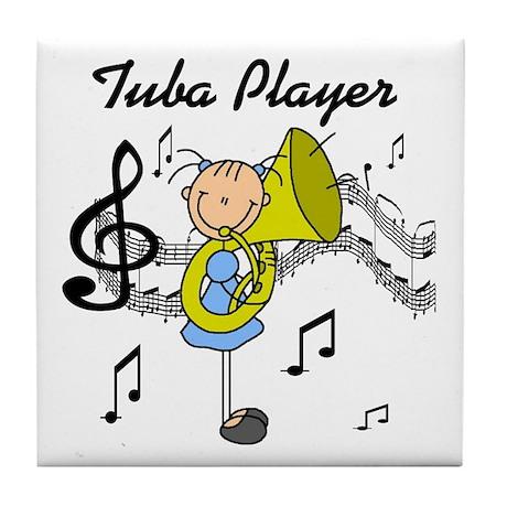 Tuba Player Tile Coaster