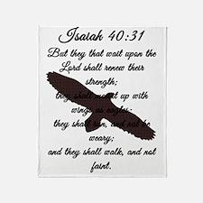 Isaiah 40:31 Throw Blanket