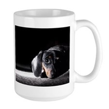 """Shadows"" Miniature Dachshund Large Coffee Mug"