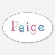 Paige Princess Balloons Oval Decal