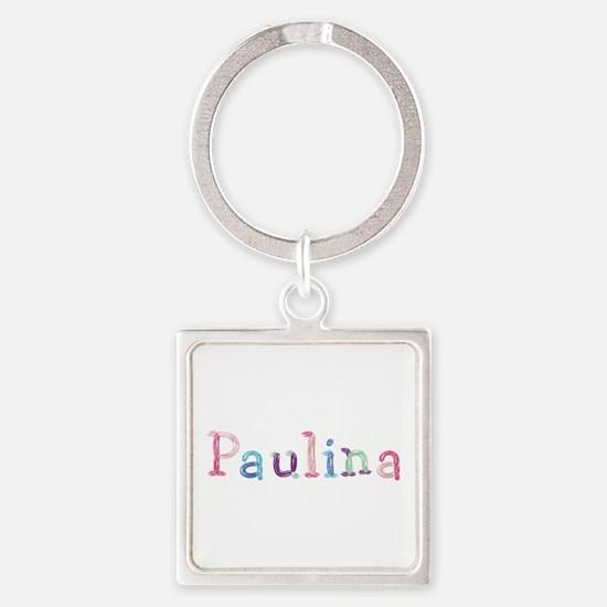 Paulina Princess Balloons Square Keychain