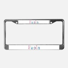 Paola Princess Balloons License Plate Frame