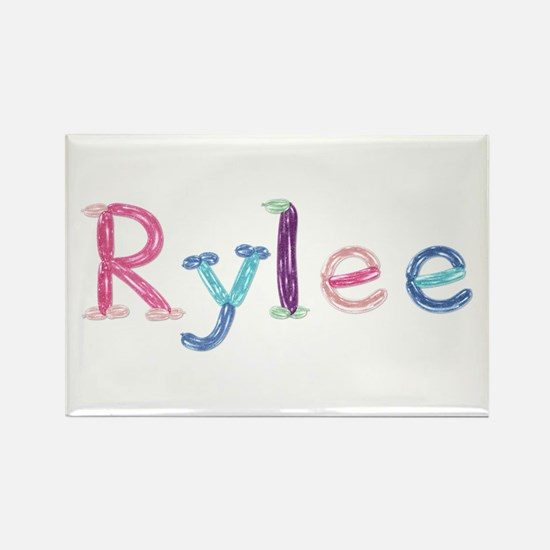 Rylee Princess Balloons Rectangle Magnet