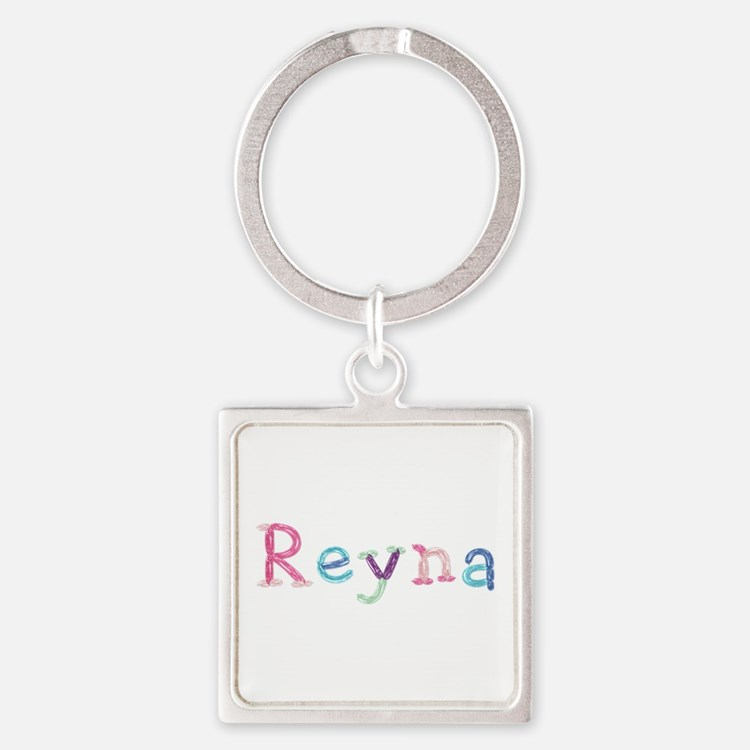 Reyna Princess Balloons Square Keychain