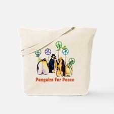 Peace Penguins Tote Bag