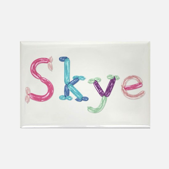 Skye Princess Balloons Rectangle Magnet