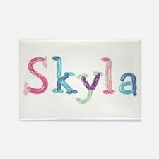 Skyla Princess Balloons Rectangle Magnet