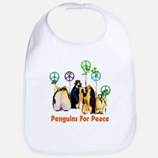 Peace Penguins Bib