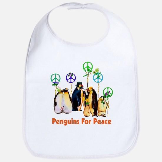 Peace Penguins Bib