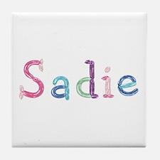Sadie Princess Balloons Tile Coaster