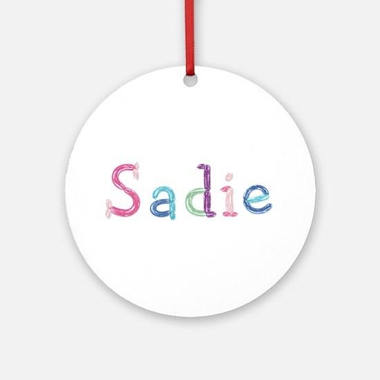Sadie Princess Balloons Round Ornament