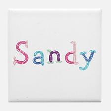Sandy Princess Balloons Tile Coaster