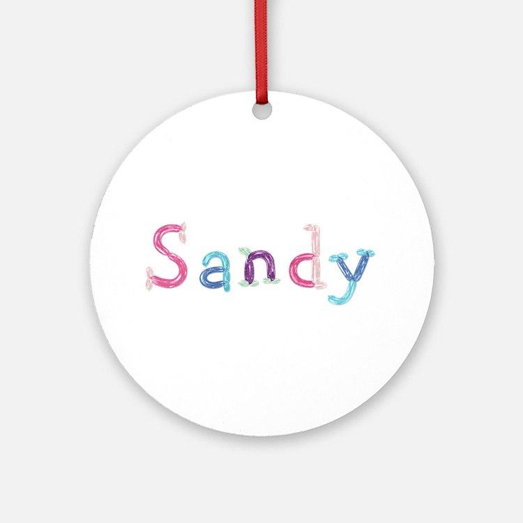 Sandy Princess Balloons Round Ornament