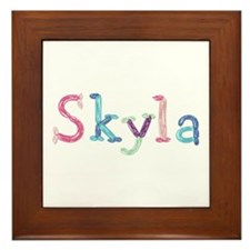 Skyla Princess Balloons Framed Tile